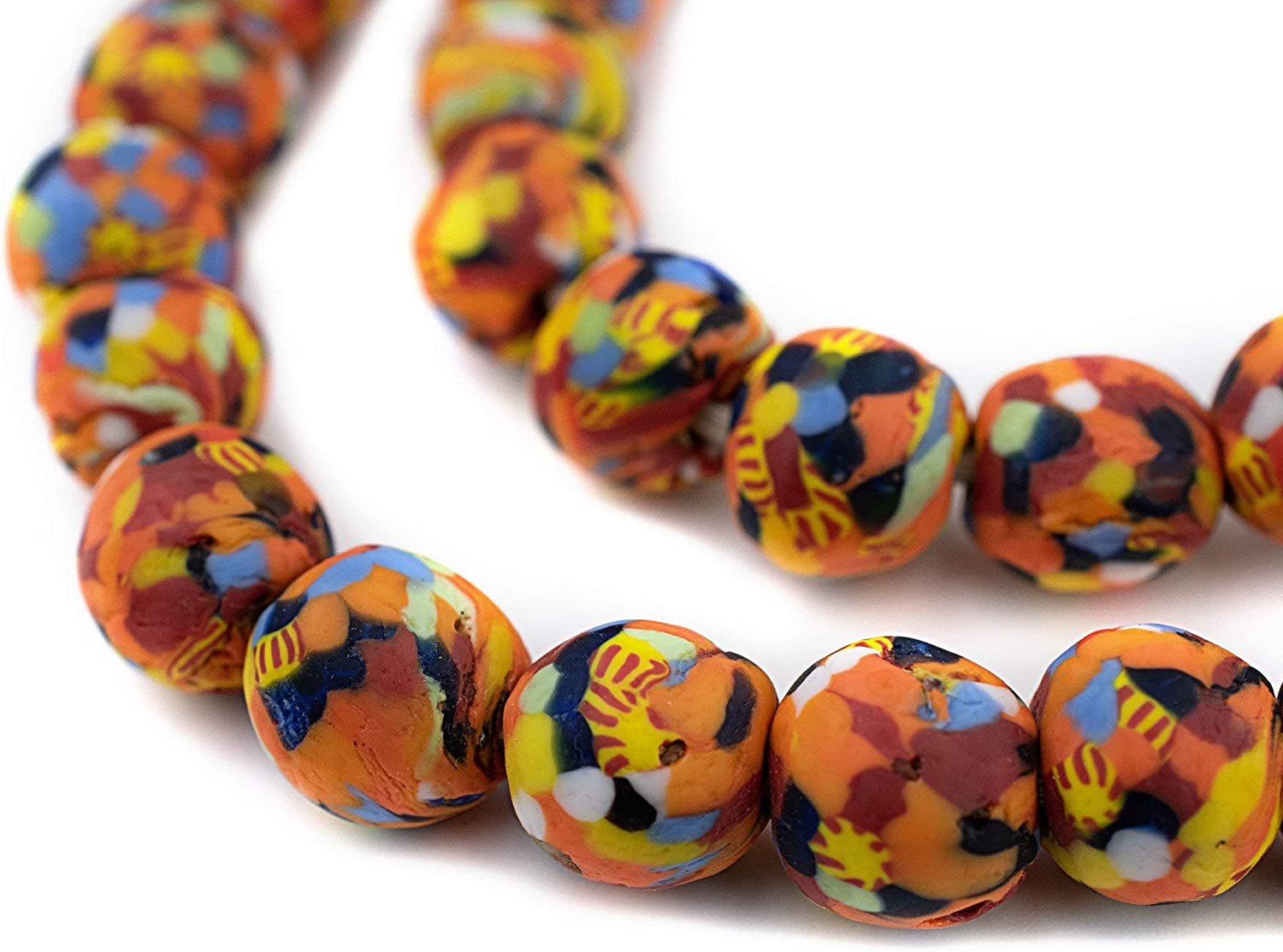 Beautiful African glass beads 12 large  ethnic beads for statement jewelry