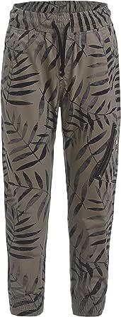 GULLIVER Pantalones de niño con estampado, 8-13 años, 134-164 cm, color caqui y verde