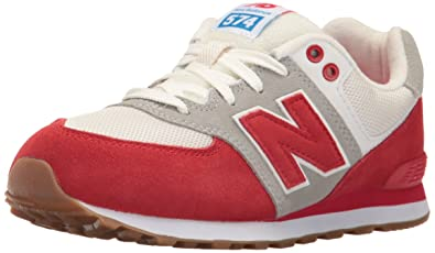 cd68268c79fa5 ... canada new balance unisex kids 574 trainers red pan red white 9cbfc  8115a ...