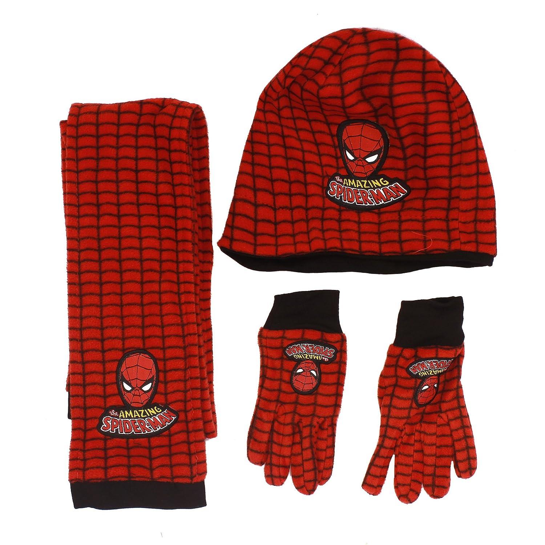 Boys Spiderman Hat Scarf Gloves Set