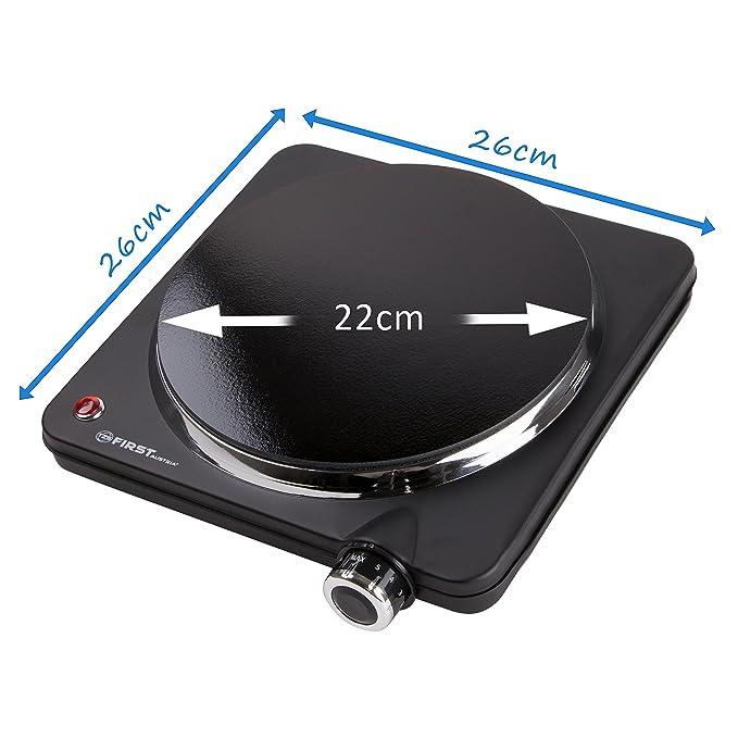 Placa de cocción individual infrarroja con 22 cm