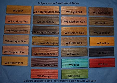 WOOD DYE - Bolgers water based wood stain - non toxic, VOC free wood