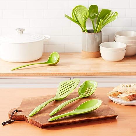 Details about  /Hutzler Spoon Set Ladle Mixing Utensil Kitchen Tool Farmhouse Hardwood 2 Piece