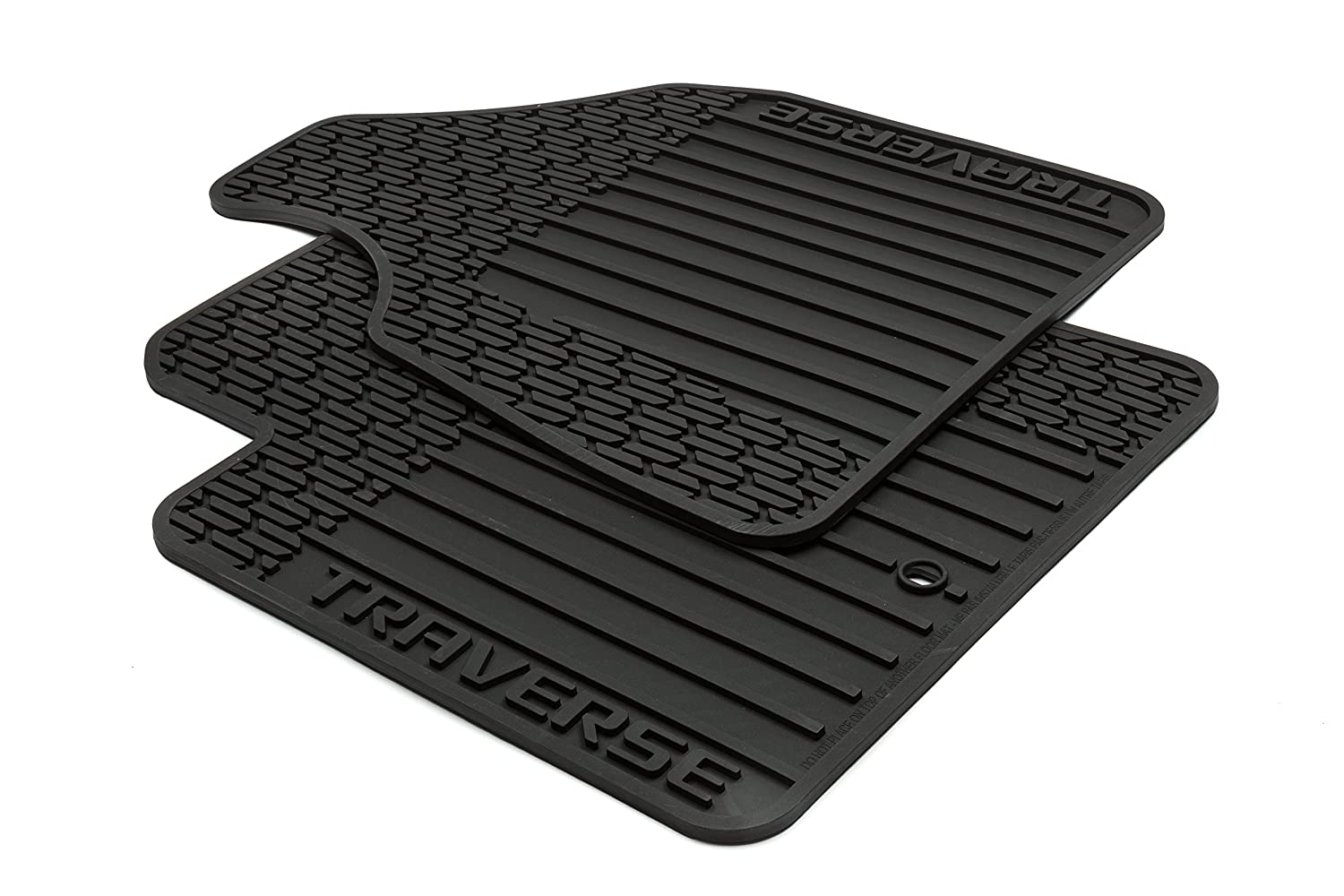Rubber floor mats chevy traverse - Amazon Com Gm Accessories 22890016 Front All Weather Floor Mats In Ebony With Deep Rib And Traverse Logo Automotive