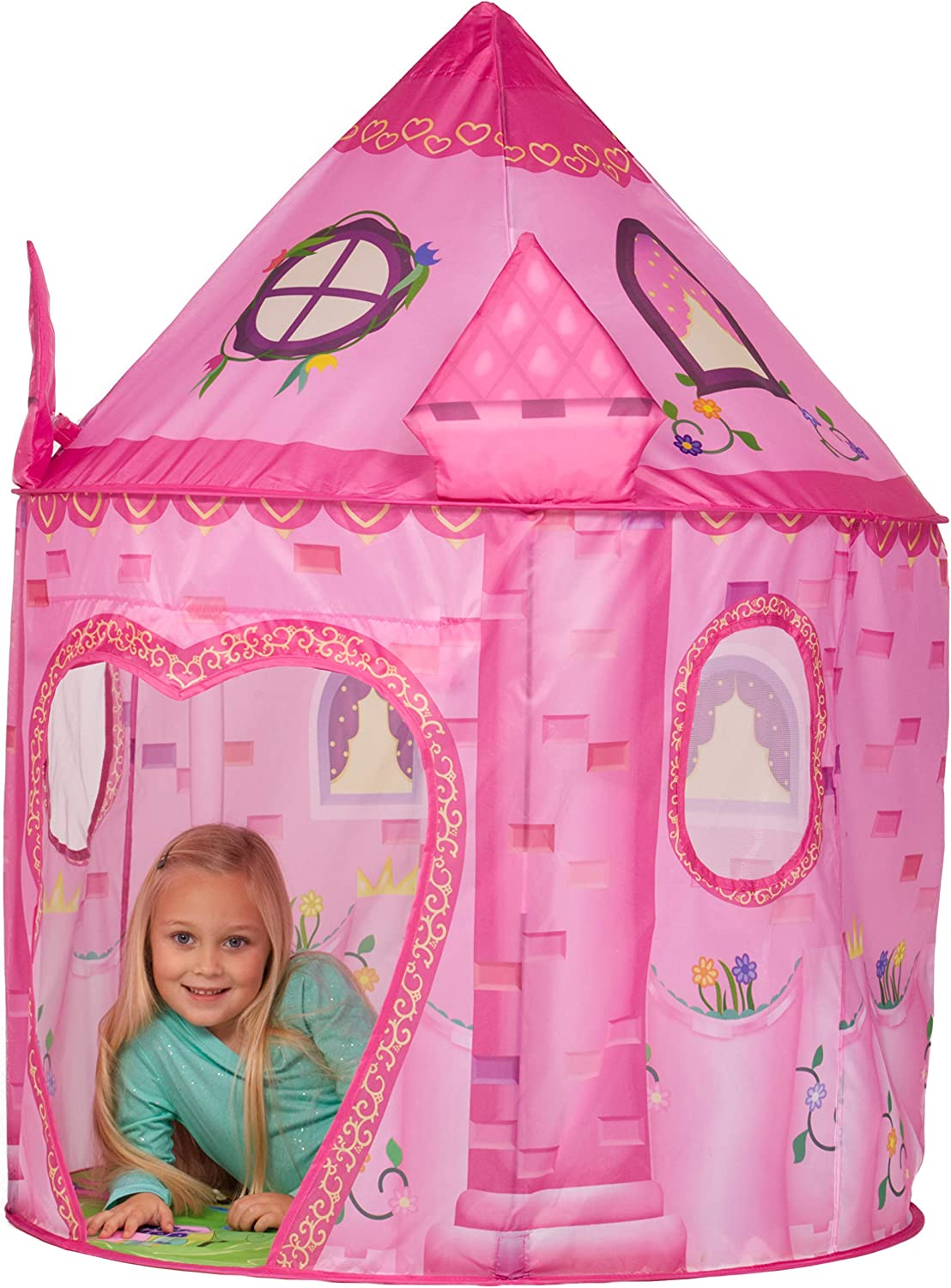 Blue Girls Princess Play Tent Toy Foldable Pop up Kids Playhouse for Children Toddlers Indoor /& Outdoor Games JHSH Kids Play Tent