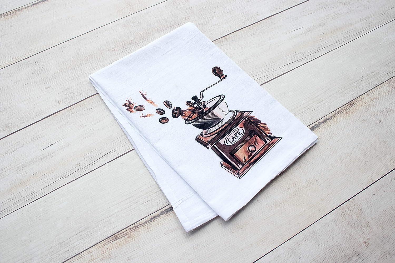 premium tea towel Vintage Coffee Grinder