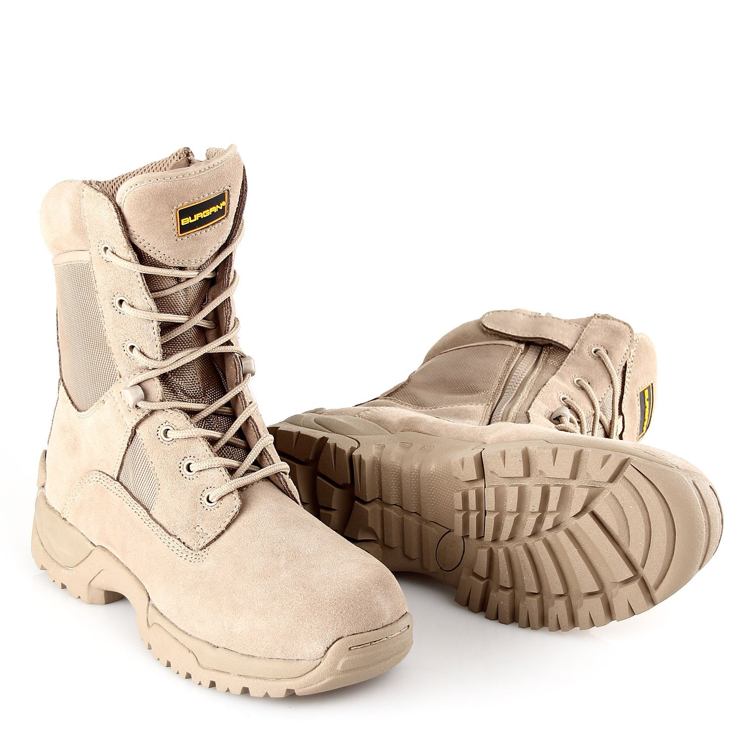 BURGAN 871 TAC Force 8 inch Tactical Zipper Boot B07BSR8Q68 39 (US Mens 6.5 / Ladies 7.5)|Camel