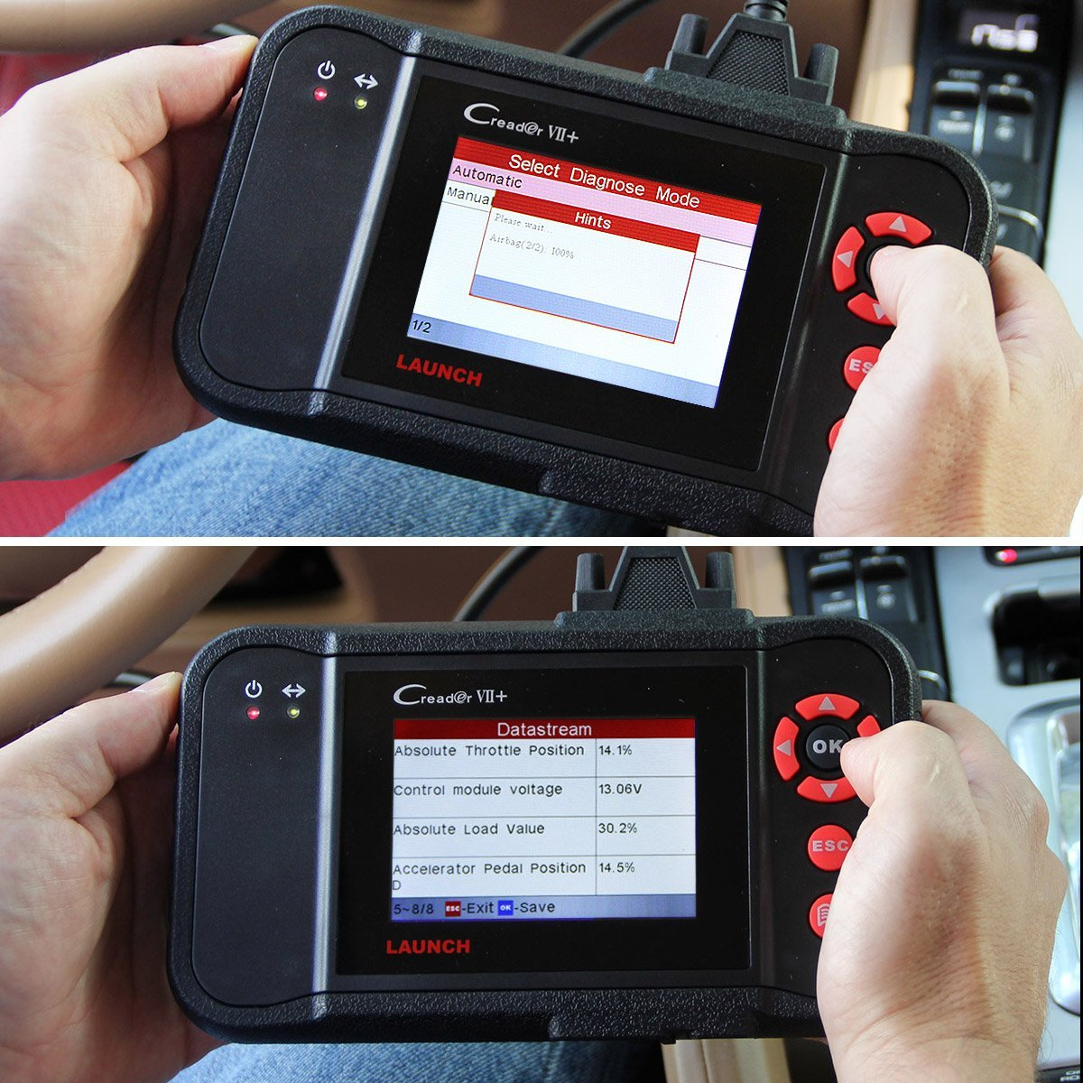 Launch X431 Creader VII+ ( CRP123) Auto Code Reader EOBD, OBD2 Scanner Scan Tool Testing Engine/Transmission/ABS/ Airbag System Update via PC by Launch (Image #4)