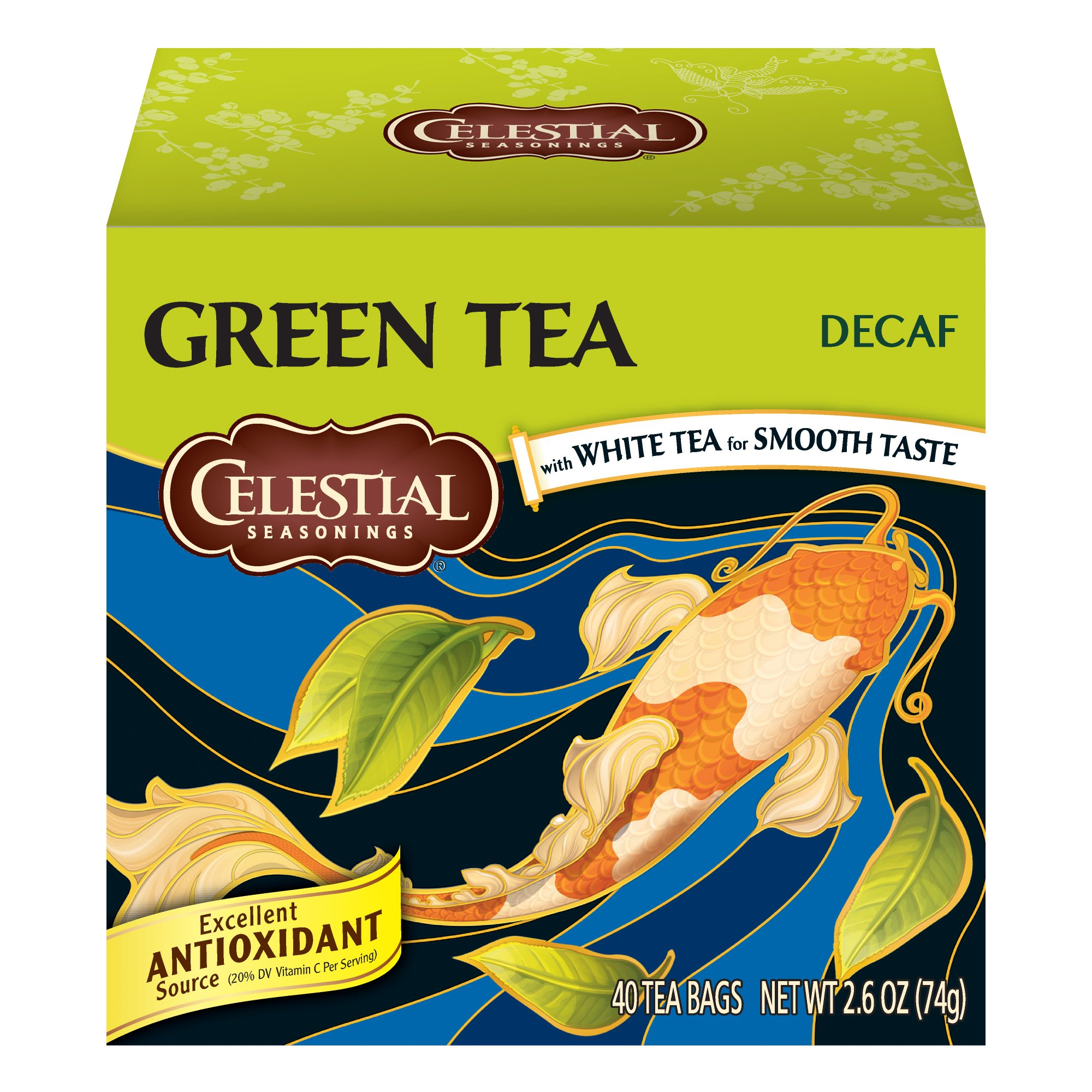 Celestial Seasonings Green Tea, Decaf, 40 Count (Pack of 6) by Celestial Seasonings