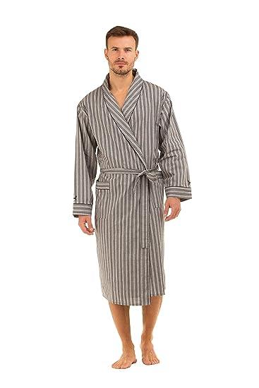 Haigman Men s Cotton Dressing Gown Bath Robe Nightwear 7396  Amazon.co.uk   Clothing d5b24c950