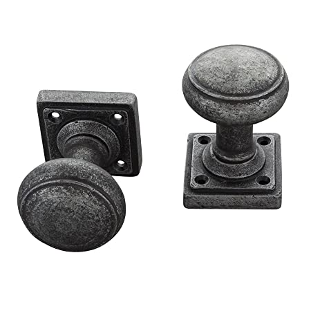 SECOND Round Pewter Mortice Door Knobs Set on Round Pewter Door Handles
