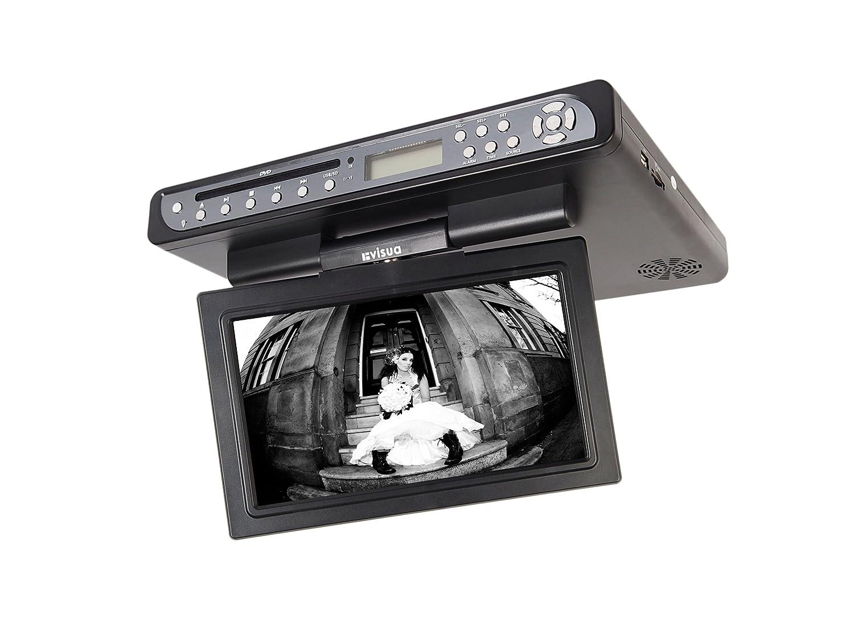 amazon com visua vsktv102 under cabinet flip down kitchen tv with