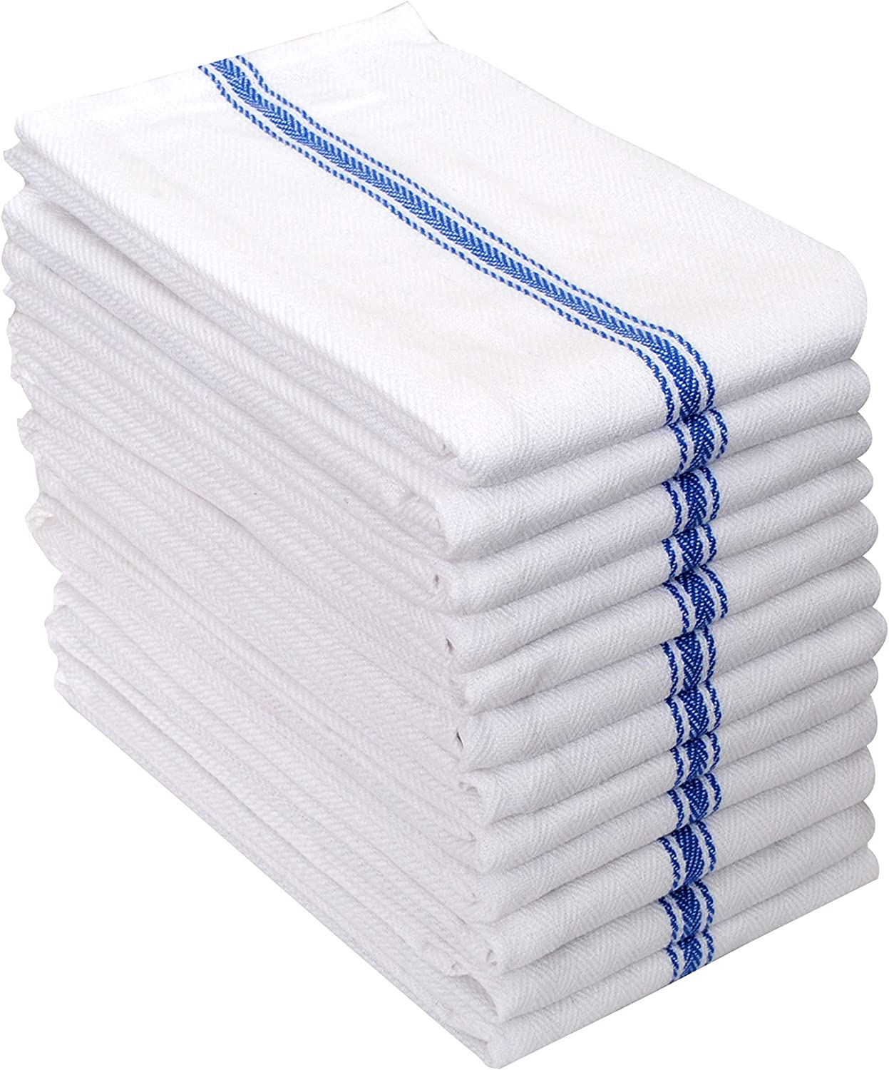 Perfect for Commercial Use and Bar Towels Ultra Soft and Absorbent 28 x 16 Inches Blue 100/% Ring Spun Cotton Dish Towels Set of 12 Amour Infini Herringbone Weave Kitchen Towels