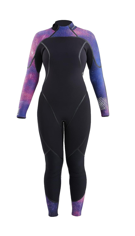 Aqua LungレディースAquaflex 5 mm back-zipジャンプスーツ B06XHVK657 Black/Galaxy 14S 14S Black/Galaxy