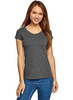 oodji Ultra Mujer Camiseta Básica de Algodón: Amazon.es: Ropa y ...