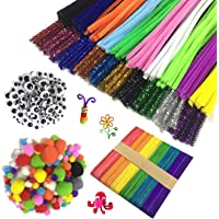 Wartoon Pipe Cleaners Crafts Set, limpiapipas Chenille Stem