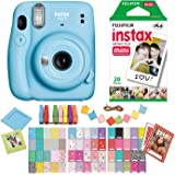 Fujifilm Instax Mini 11 Sky Blue Instant Camera with Twin Pack Instant Film, Ritz Gear Frame Stickers and Ritz Gear…