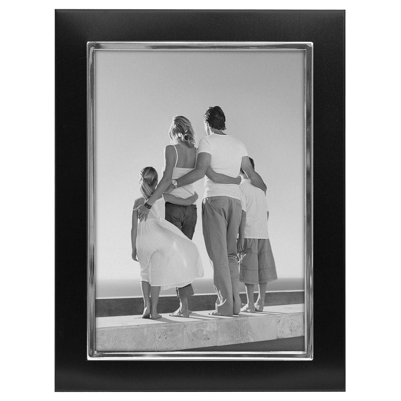Malden International Designs Uptown Matte Silver with Silver Fashion Metal Frame, 5x7, Silver 9054-57