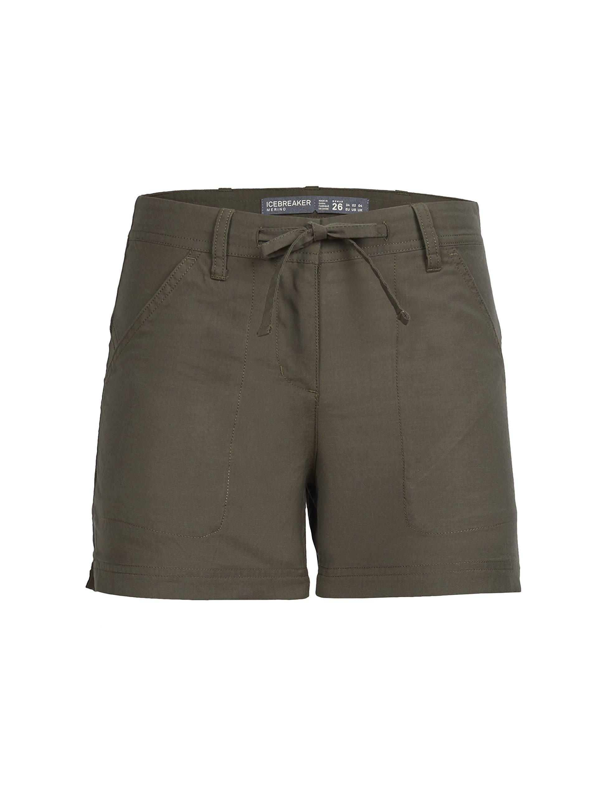 Icebreaker Merino Women's Shasta Shorts, Kona, Size 31