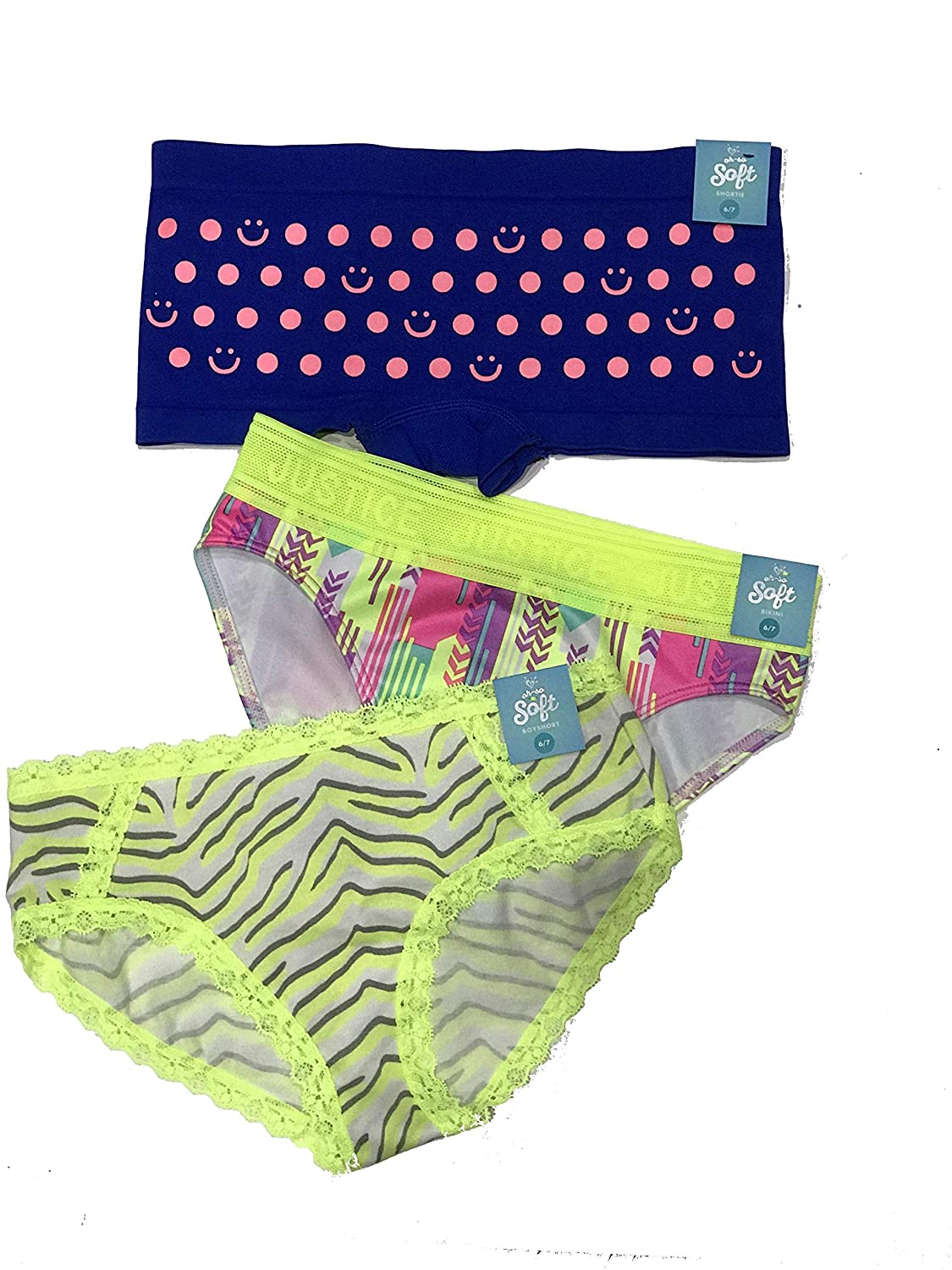 Justice 3-Pack Panty Size 6//7 Small