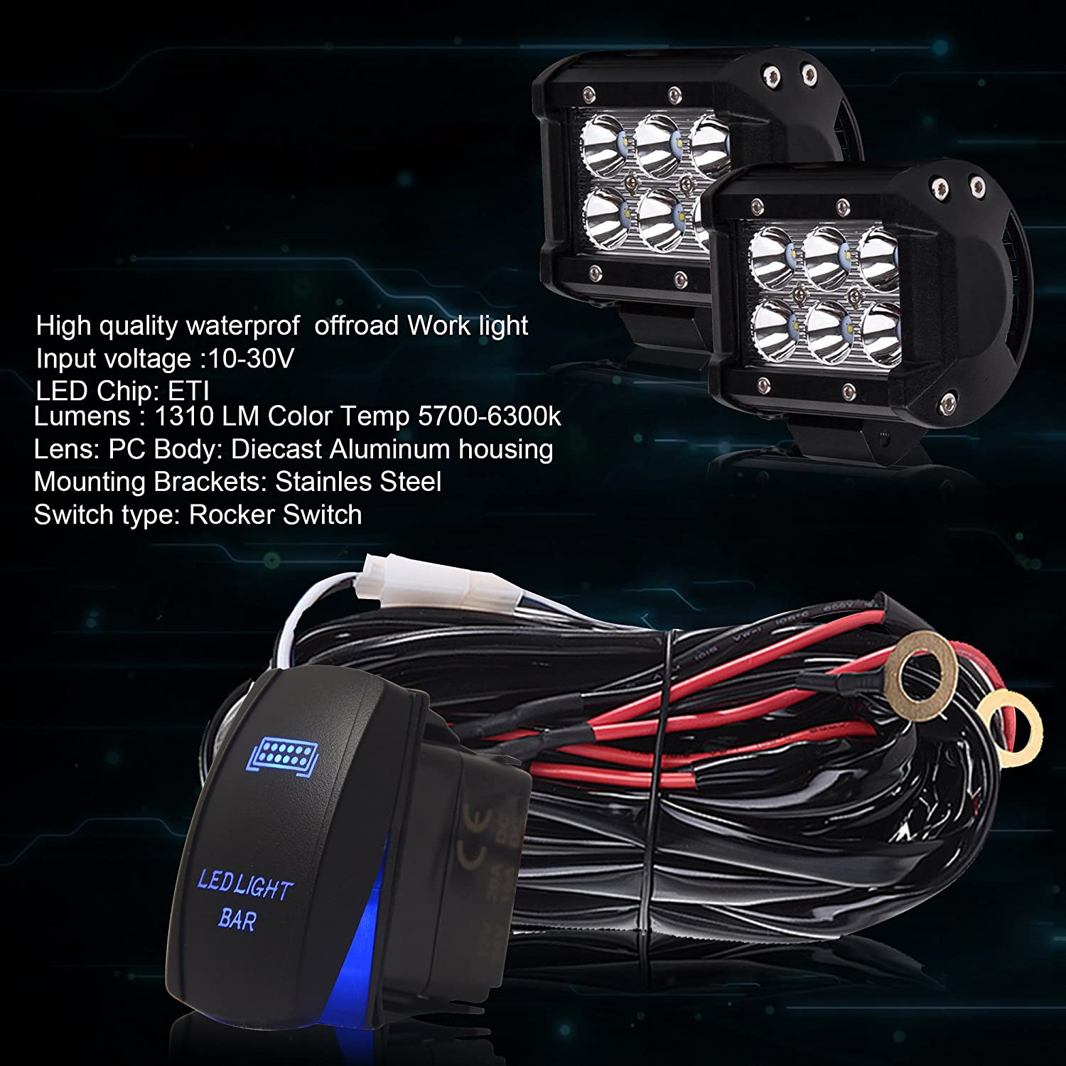 42inch 240w Led Work Light Bar Combo Driving Tractor 45 44 2x 18w Wiring Lights Kit