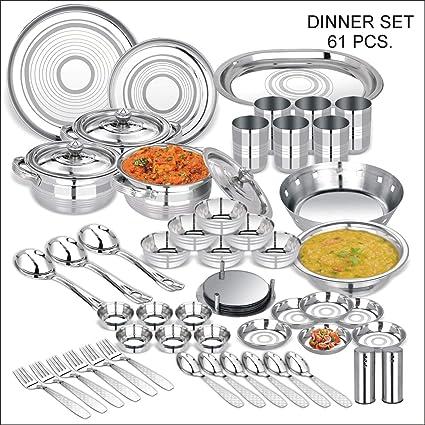Magnificent Buy Abode Prime Stainless Steel Dinnerware Set 61 Pieces Download Free Architecture Designs Saprecsunscenecom