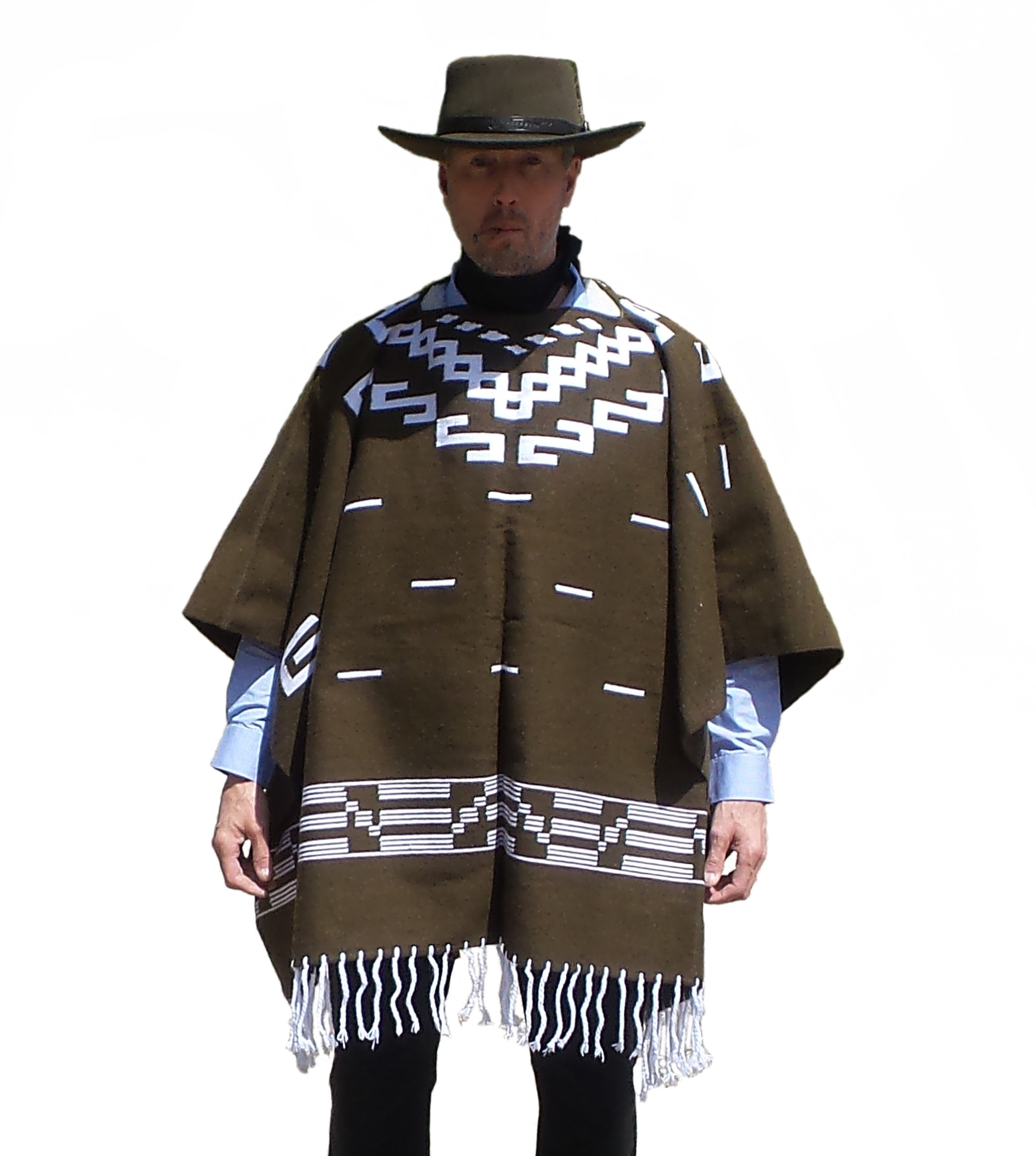 Clint Eastwood Style Spaghetti Western Cowboy Brown Poncho Movie Prop - Great Christmas Gift