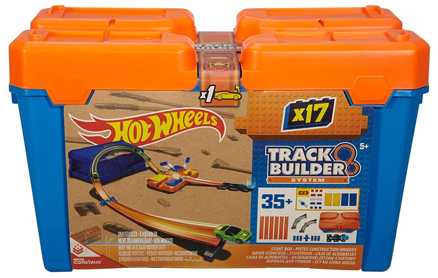 Hot Wheels Track Builder Stunt Box Mattel DWW95
