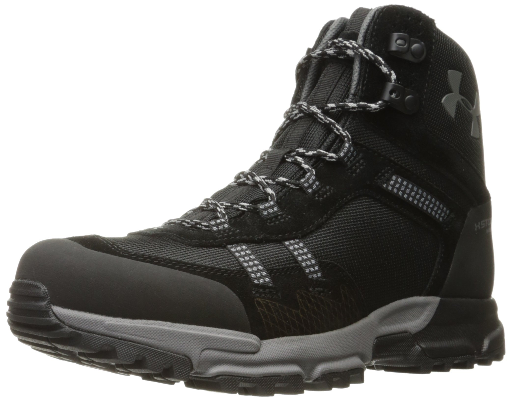 Under Armour Men's Post Canyon Mid Waterproof Hiking Boot, Black (001)/Black, 9.5