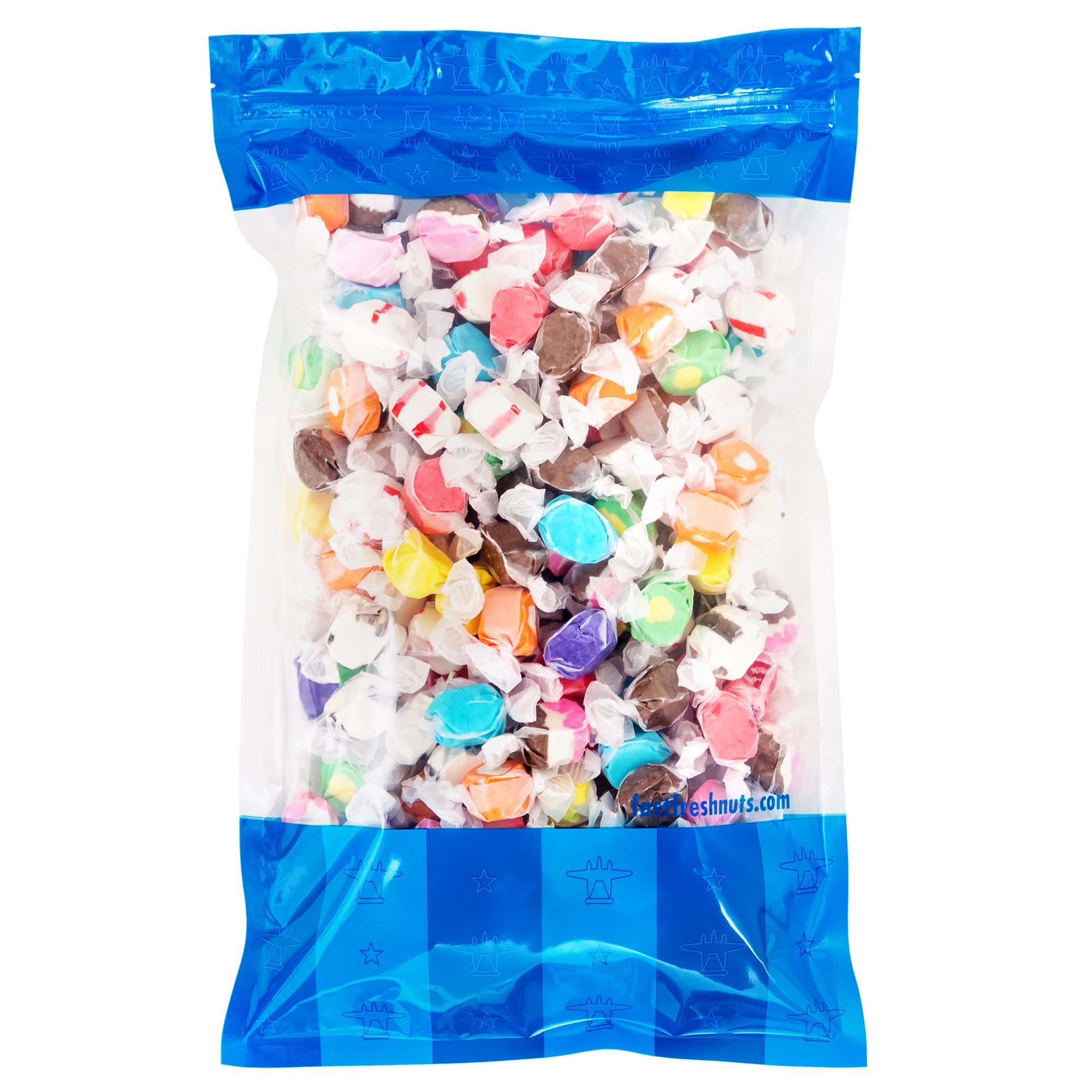 Bulk Salt Water Taffy - 5 lbs in a Resealable Bomber Bag - Great for Candy Bowls - Wholesale - Vending Machines - Party Size - Holiday Candy !!! by Fast Fresh Nuts