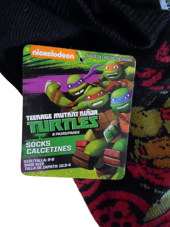 Amazon.com: Nickelodeon Teenage Mutant Ninja Turtles Boys Socks (six pair) Size 6-8: Clothing