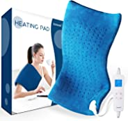 Electric Heating Pad for Pain Relief - Saferell Fast-Heating Pad for Back & Cramps, XL Size 12