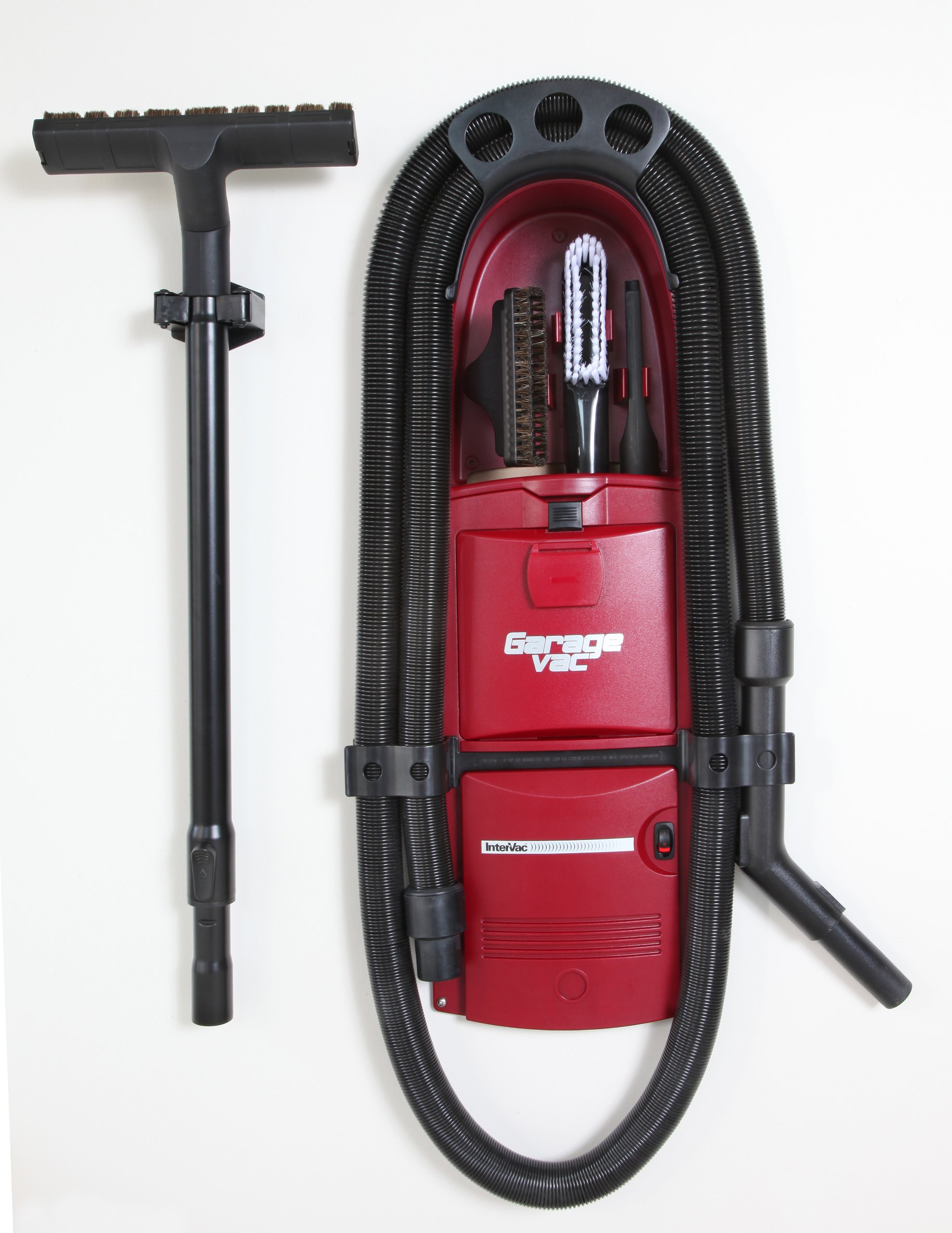 GarageVac GH120-R Red Wall Mounted Garage Vacuum with Accessory