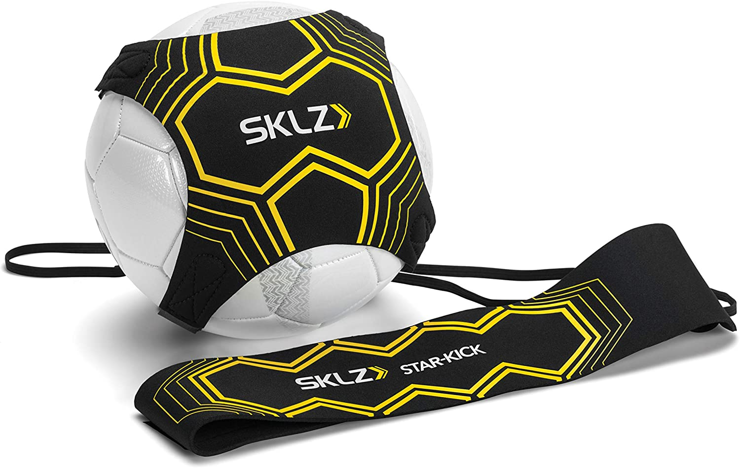 SKLZ Star Kick Hands Free Solo Soccer Trainer Fits Ball Size 3, 4, and 5