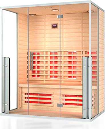 Cabina de infrarrojos Monaco, cabina térmica, sauna, cabina de sauna de infrarrojos, calor infrarrojo: Amazon.es: Bricolaje y herramientas