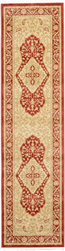 Unique Loom Edinburgh Collection Oriental Traditional French Country Red Runner Rug 2 7 x 10 0