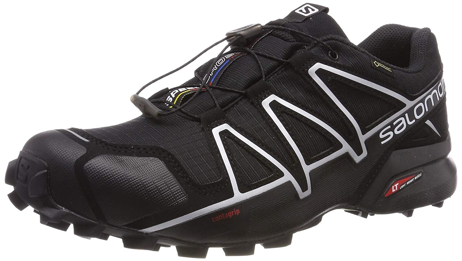 [サロモン] トレイルランニングシューズ SPEEDCROSS 4 US GTX メンズ B01G7UFDDA Black Metallic/Black w//Silver Metallic X w/ Sock 9 D(M) US 9 D(M) US|Black/Black/Silver Metallic X w/ Sock, トヨオカシ:d6bc0d2b --- specialitysoldasespeciais.com.br