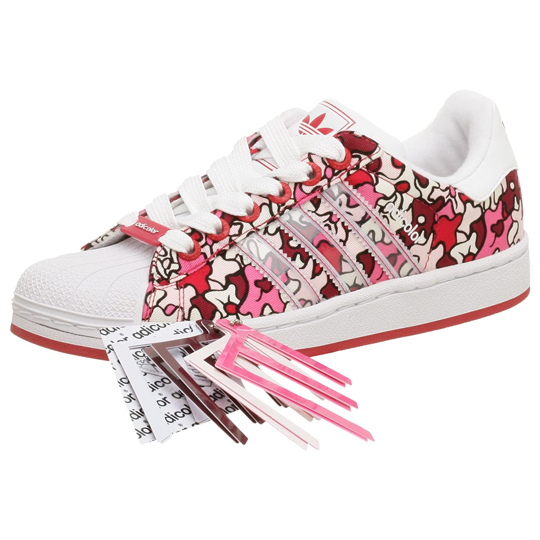 adidas superstar white pink red