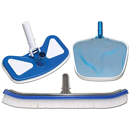 Amazon.com : In The Swim Swimming Pool Brush, Net and Vacuum Head ...