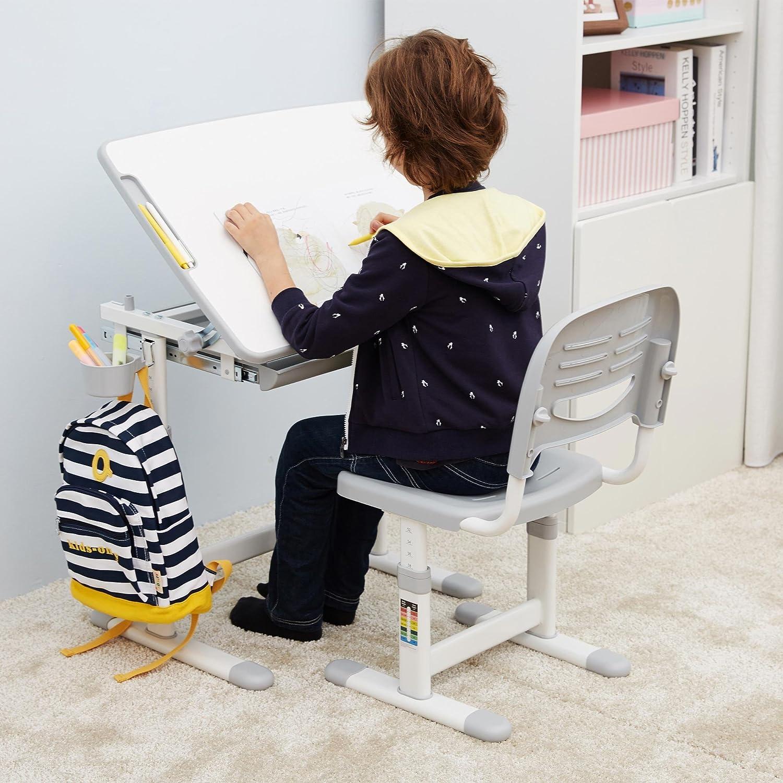 Ergonomica tavolo per bambini sedia basculante scrittorio alto regolabile in altezza dei bambini scrivania sedia con cassetto cuscino GRATUITO Mini