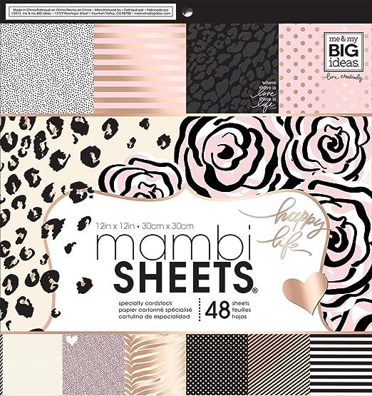 ME  MY BIG IDEAS MAMPADX.316  MAMPADX 316 MAMBI SHEETS CDSTK PAD 12X12 BLACK ...