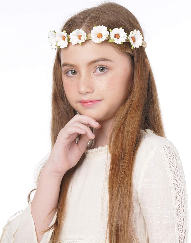 Amazon Daisy Flower Headband Wreath Boho Garland Perfect For