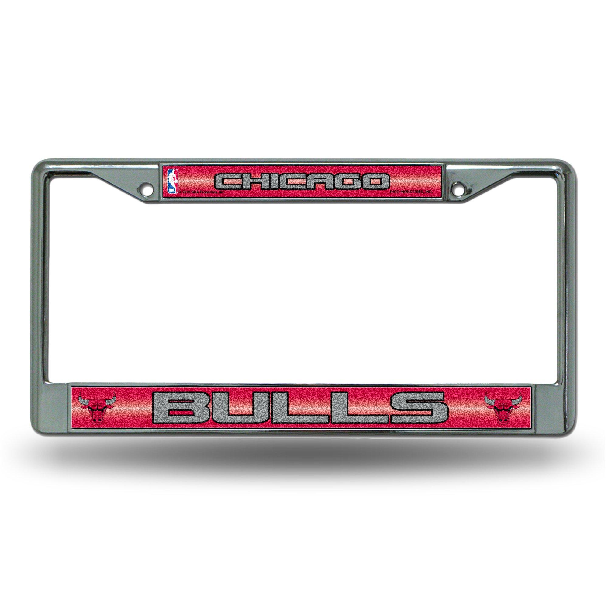 NBA Chicago Bulls Bling Chrome License Plate Frame