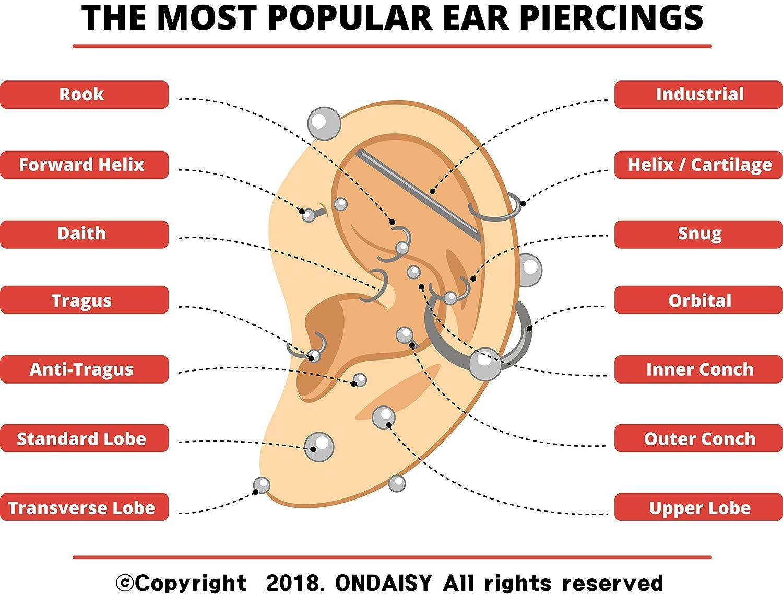 ONDAISY Cz Queen Princess Crown Tiara Cut Round Ball Ear Studs Earring Piercing Labret 11PL00271_00