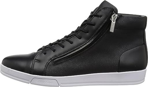 calvin klein men's berke brushed leather sneaker