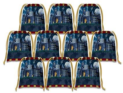 Amazon.com: Mago castillo bolsas de cordón niños suministros ...