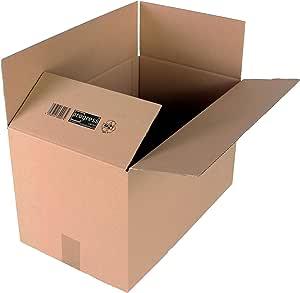progressCARGO - PC K10.07 - Caja de embalaje, cartón ondulado, 1 ondulación, 500 x 300 x 300 mm, 20 unidades, color marrón: Amazon.es: Oficina y papelería