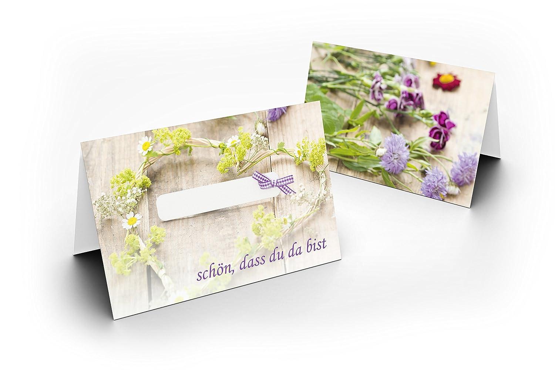 Karten24plus 25 Wunderschone Tischkarten Grun Mit Schleife Uv
