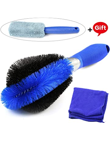 Gifort Juego de Cepillo de Limpieza para Ruedas de Automóvil, Cepillo de Limpieza Perfecto para