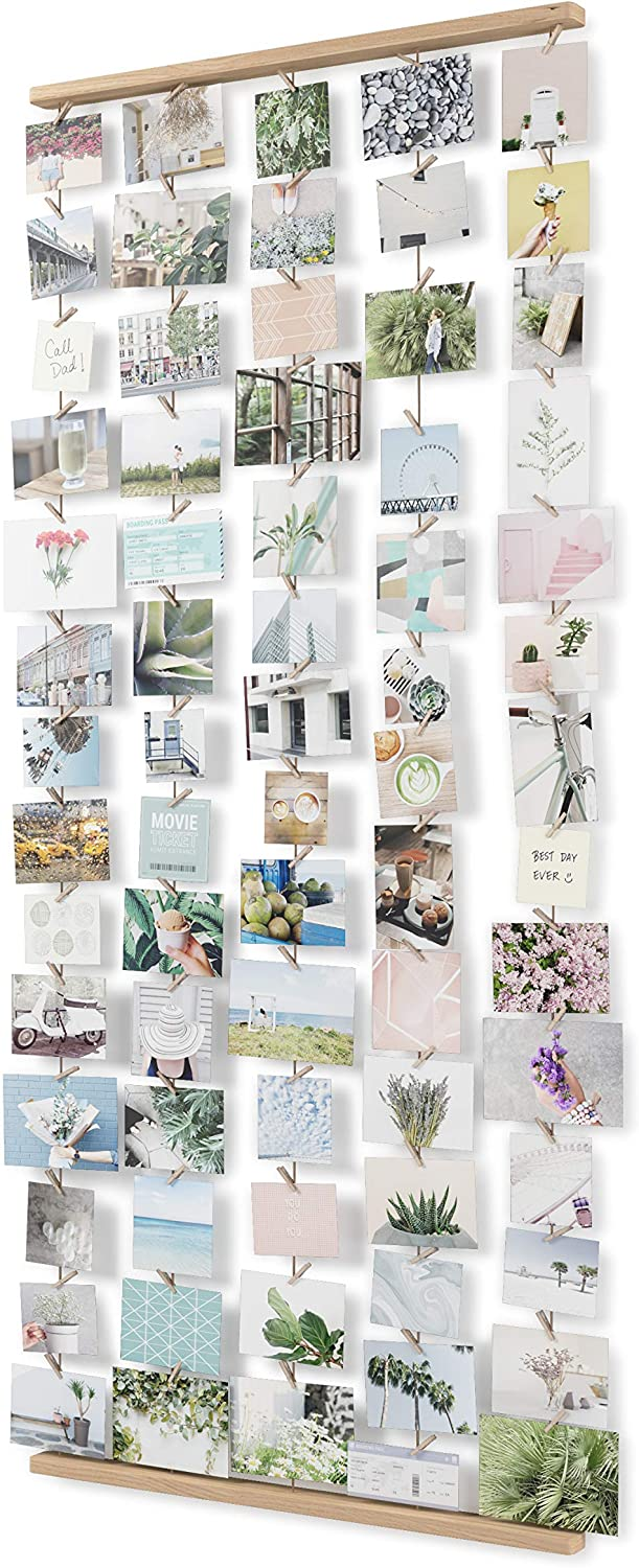 Umbra Hang IT Picture Frame and Wall Decor Set for Photos, 26x60, Natural